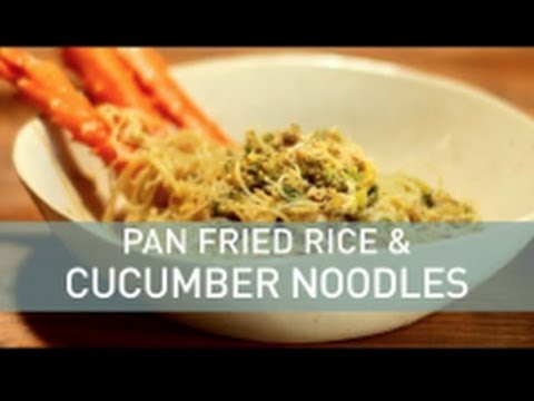 Food Deconstructed: Pan Fried Rice and Cucumber Noodles