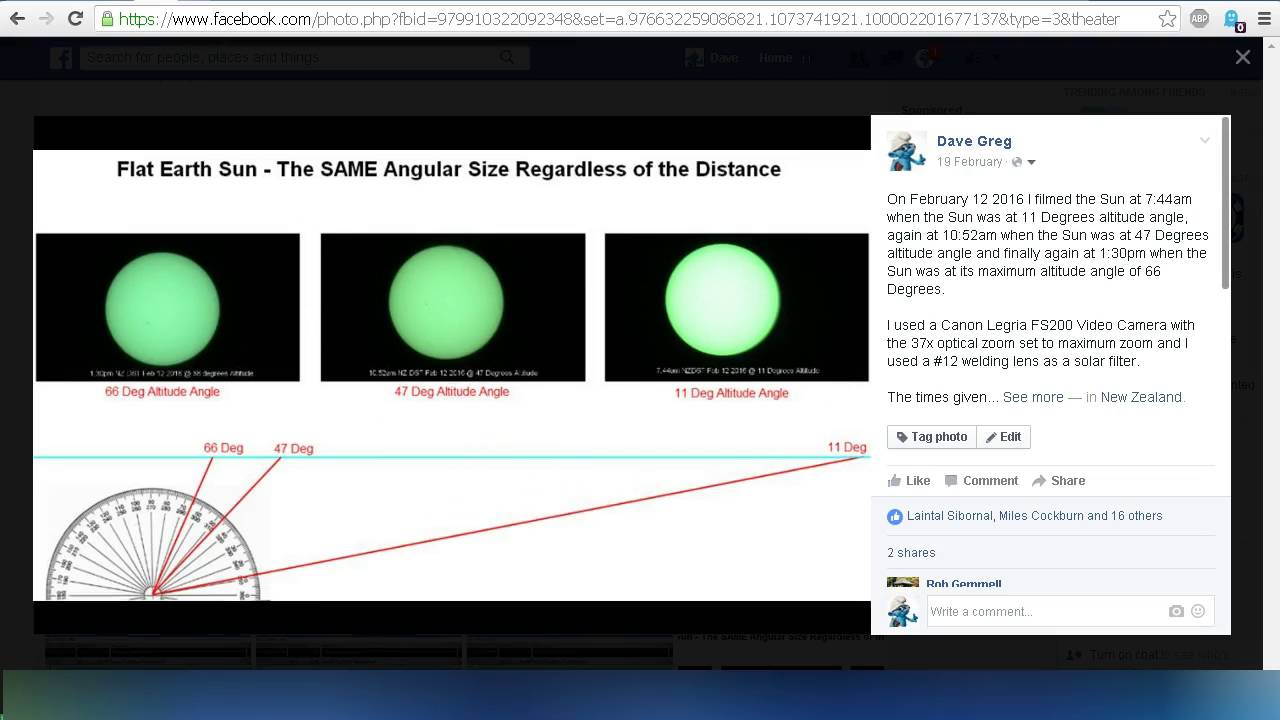 Flat Earth - Angular Size of the Sun Debunked - YouTube