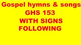 GHS 153 WITH SIGNS FOLLOWING