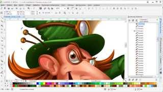 vectorising the character in Corel DRAW X7