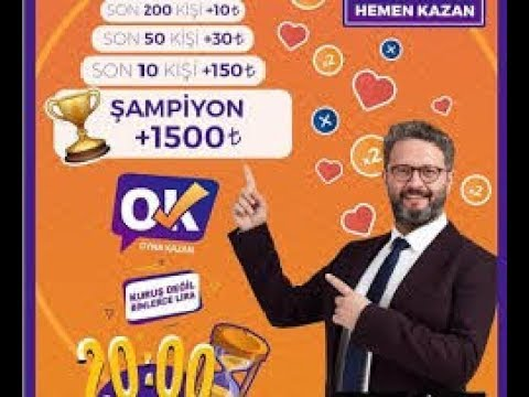 Oyna Kazan Canlı Bilgi Yarışması (Gerçek Para Ödüllü) Oynadım Ve...