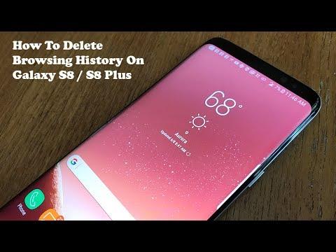 How To Delete Browsing History On Galaxy S8 / S8 Plus - Fliptroniks.com