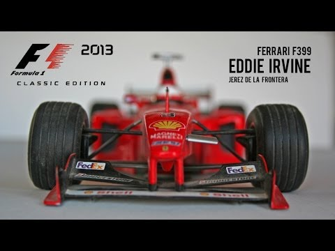 F1 2013 CLASSICS | EDDIE IRVINE 90'S FERRARI F399 | JEREZ 25% RACE