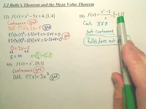 3.2b Rolle's Theorem and the Mean Value Theorem - Calculus - YouTube