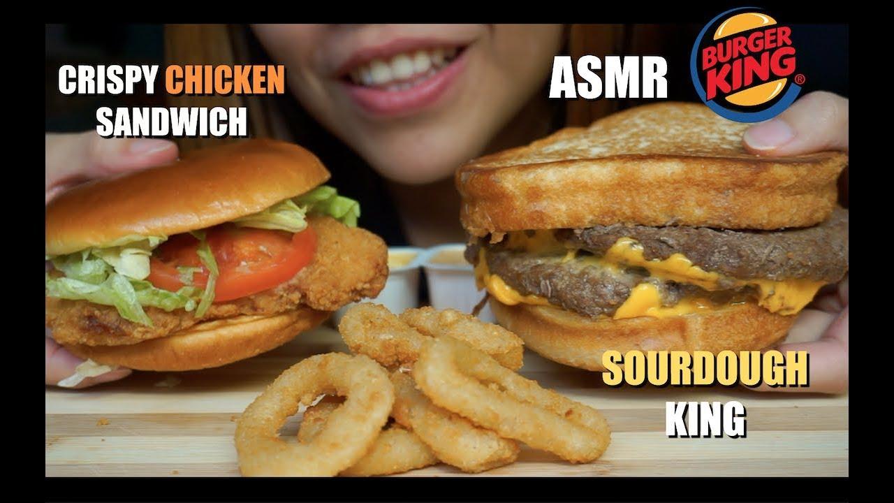 Asmr Burger King Sourdough King Crispy Chicken Sandwich Extreme Eating Sounds Asmr Sa Eats