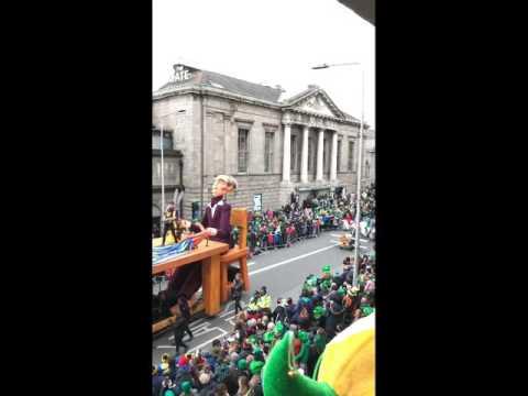 st. patrick's day parade  o'connel street, dublin