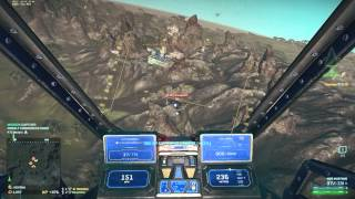 Planetside 2 - Reaver gameplay - On Miller with Bequ