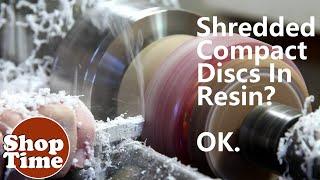 Shredded CDs Cast In Resin? OK.
