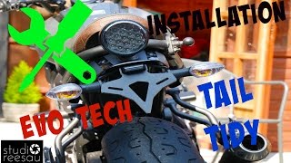yamaha xsr700 tail tidy   ride with me   vol 14   tail tidy installation
