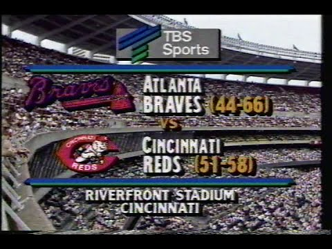 1989 MLB: Braves at Reds 8/6/1989