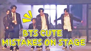 [BTS Funny moments ] BTS cute mistakes on stage P.t 1