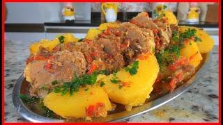Lagarto Fatiado com Batatas de um Jeito Muito Fácil
