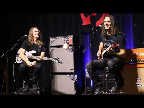 David Ellefson and Kiko Loureiro at Replay Guitar Exchange
