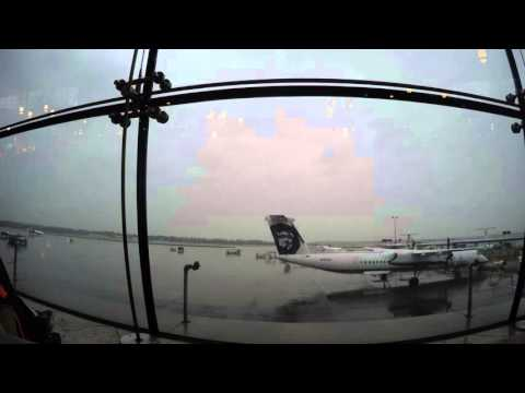 Timelapse video in Seattle Tacoma International airport