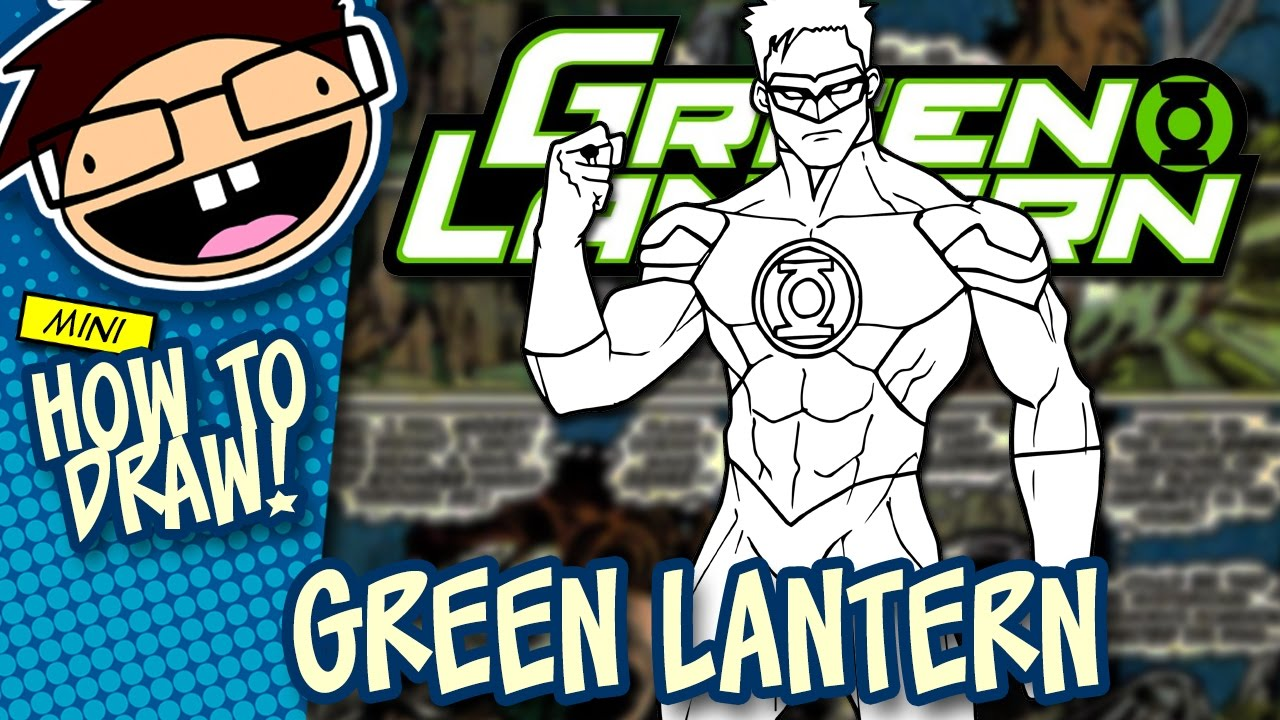 how to draw green lantern comic version narrated easy step by step tutorial