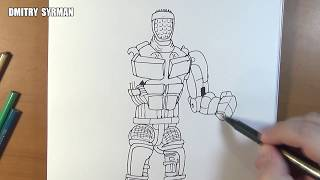 Speed drawing robot Atom, Real Steel