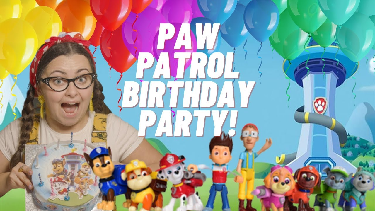 Download Paw Patrol Birthday Surprise Party with Cake for Tilly - Tiny Treehouse TV