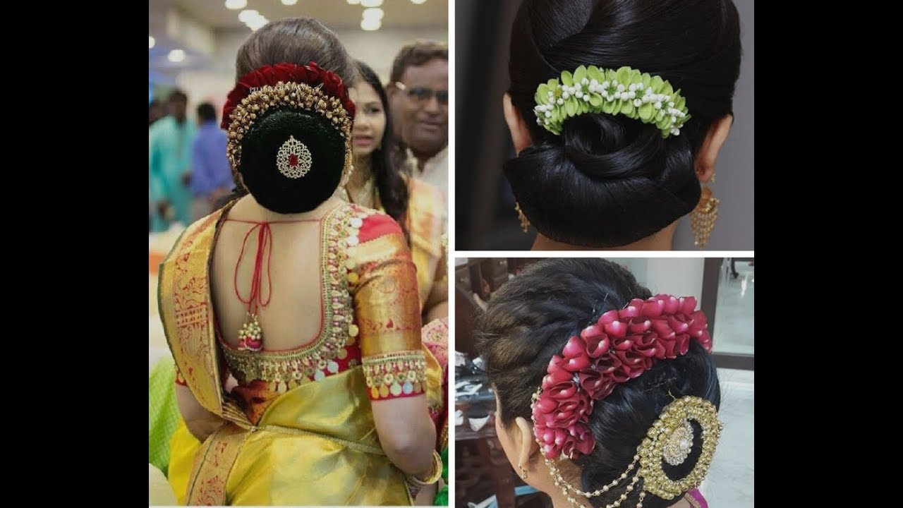 new party hairstyle | latest hairstyles 2017 | south indian koppu | hair styles & fashions|hsf