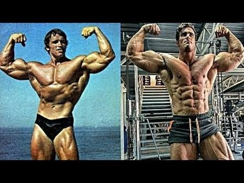 Like Dad Like Son   Arnold schwarzenegger Vs Calum Von ...