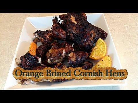 Orange Brined Cornish Hens Smoke On The Weber Kettle Grill