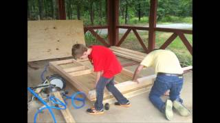 Grandchildren's Playhouse 2014, Part 1 Building The Base, Floor, & Wall Frames