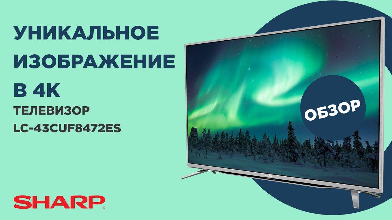 Обзор телевизора Sharp LC-43CFG6452E - YouTube
