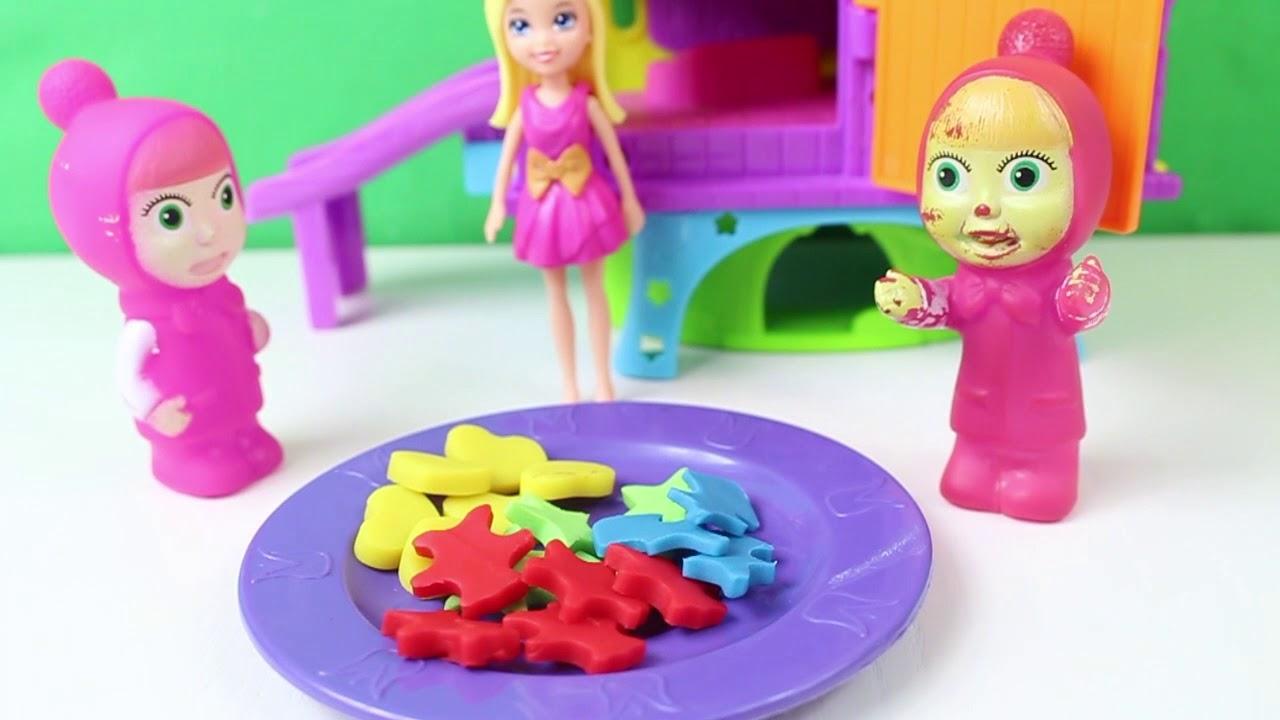 Maşa Ve Tatlı Oyuncak Pony Oyun Oynuyor Çizgi Film İzle Eğlenceli Oyuncaklar