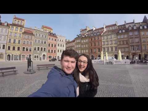 Sjoerd en Jamie-Lee in Warschau