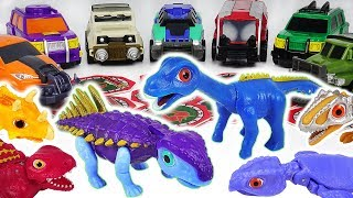 Dino Mecard tiny dinosaur Hylaeosaurus, Diplocaulus! Defeat Jurassic World Indoraptor! #DuDuPopTOY