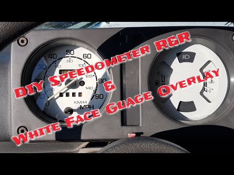 Suzuki Samurai DIY Speedometer cable install and White Face Guage Overlays.