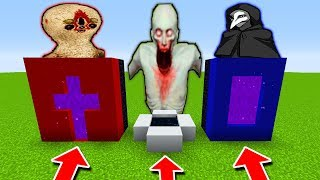 DO NOT CHOOSE WRONG PORTAL FINDING SECRET BASE scp 096 VS scp 173 scp 049 shy guy minecraft pe