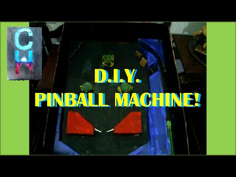 D.I.Y. Functioning Pinball Machine! - Creative World!