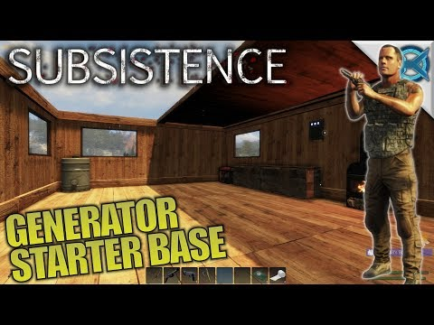 Generator Mass Storage Starter Base | Subsistence | Let's Play Gameplay | S06E04