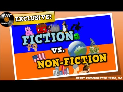 Fiction vs. Non-fiction (song for kids about distinguishing fiction vs. non-fiction texts)