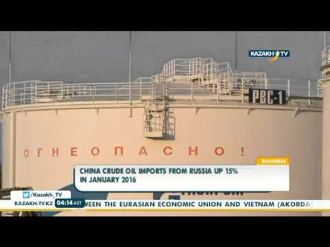 China crude oil imports from Russia up 15% in January 2016 - Kazakh TV
