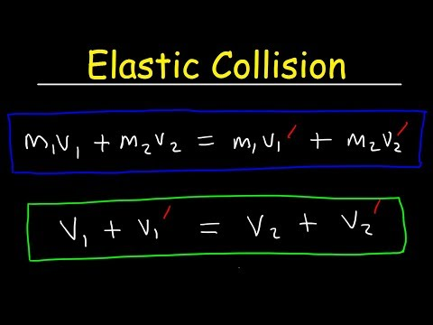 Elastic Collisions In One Dimension Physics Problems - Conse
