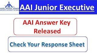 AAI Response Sheet Released | AAI Answer Key Released | SpeedUp Education