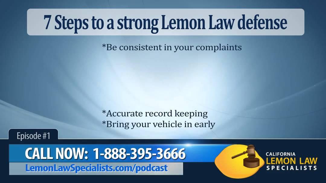 California Lemon Law >> California Lemon Law Seven Steps Youtube