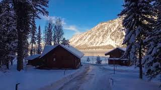 Altay Village Teletskoe winter
