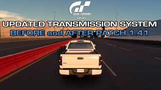 Gran Turismo Sport - Toyota Tundra TRD Pro Updated Transmission System (Before and After Patch 1.41)