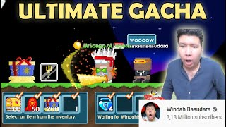GrowTopia | Selling GACHA Items to Windah Basudara for GHC! (NEW BIG INDONESIA YOUTUBER!)