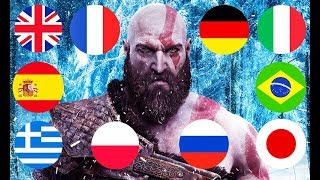 GOD OF WAR 4 IN 10 LANGUAGES! (language comparison)