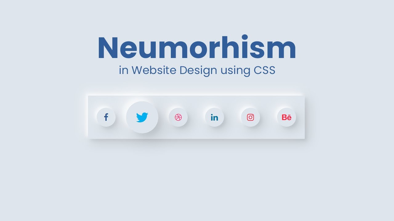 Pure CSS Hover with Neumorphism Shadow Effect For Social Media Icon