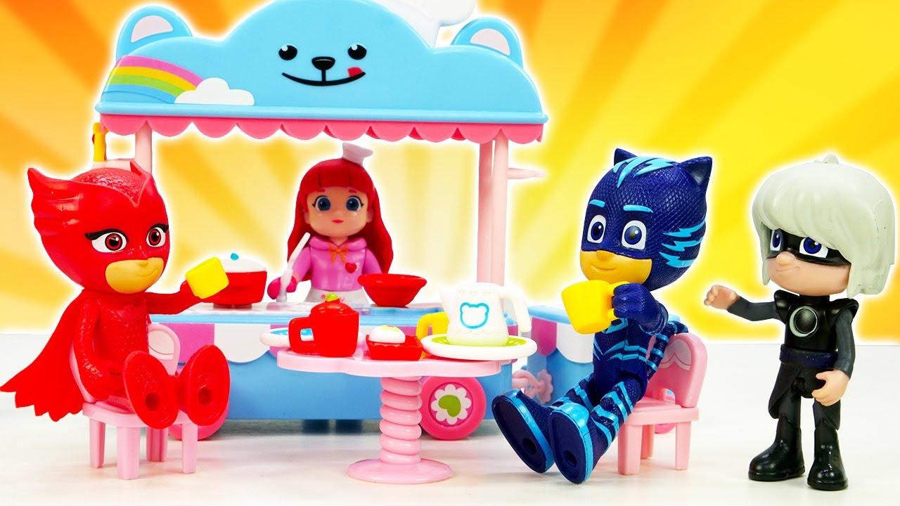 Видео игрушки из мультфильмов Герои в масках: Супергерои в парке развлечений. Видео про игры