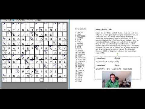The Best Crossword Puzzle Ever?  How To Solve The Listener Crossword