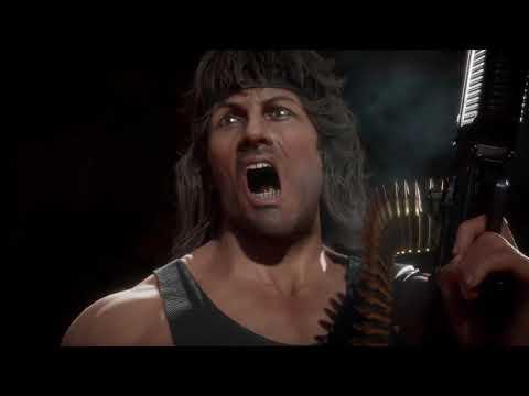MK11 Rambo Gameplay Trailer Mortal Kombat 11 (2020) Sylvester Stallone HD