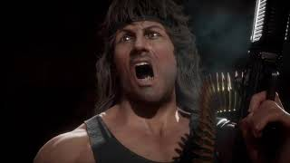 MK11 Rambo Gameplay Trailer Mortal Kombat 11 (2020) Sylvester Stallone HD