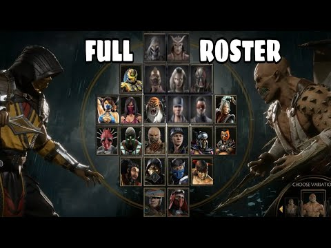 MORTAL KOMBAT : FULL CHARACTER ROSTER WISH LIST/ PREDICTION!!! ( Mortal Kombat )