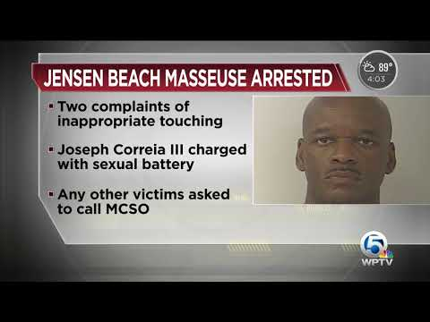 Massage therapist in Jensen Beach accused of inappropriate touching some customers