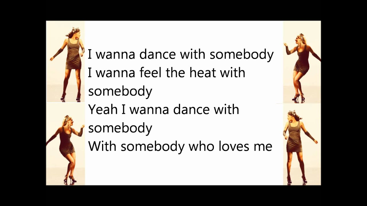 whitney huston wanna dance with somebody lyrics - YouTube